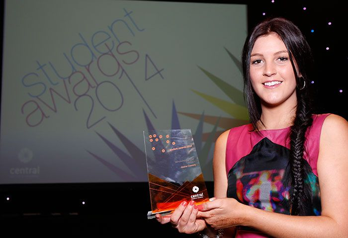 Congratulations to Alisha Cassidy - Student of the Year 2014, Central Student Awards. Read her story on the Central Blog,