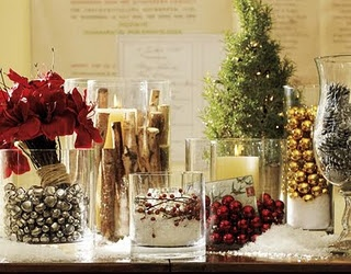decorating with vases for christmas