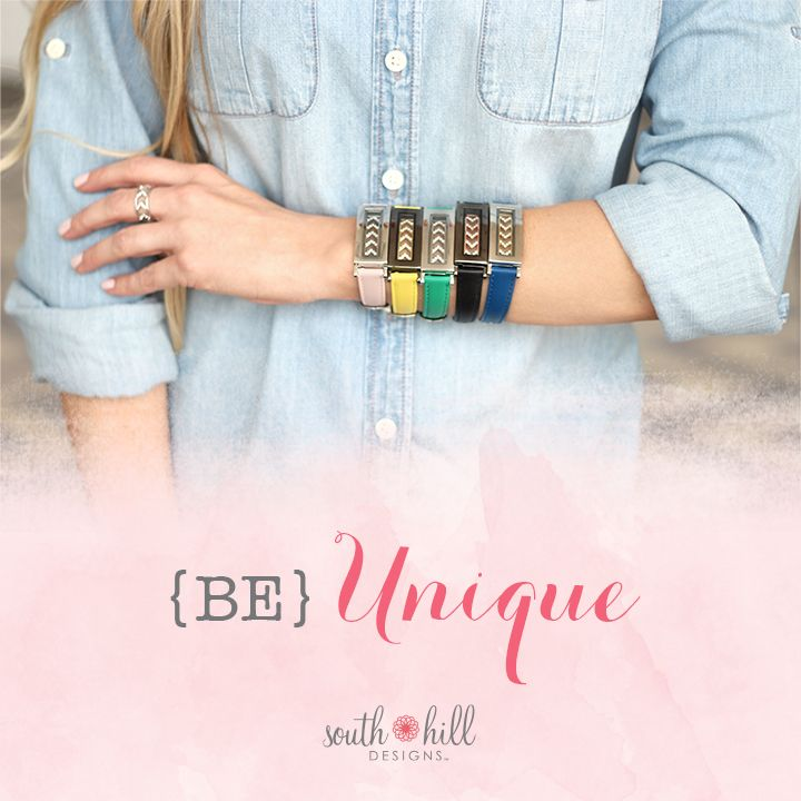 Make your locket bracelet unique with the Interchangeable Locket Bracelet Straps. How will you wear this look?