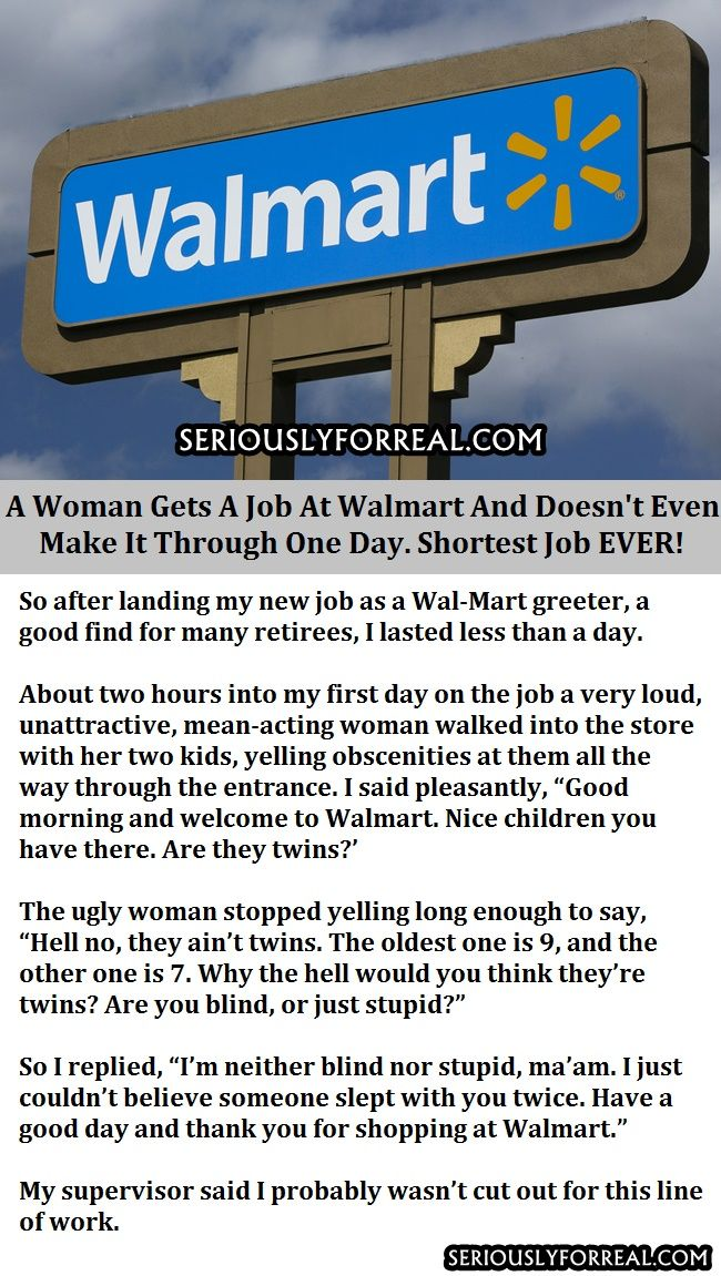 A Woman Gets A Job At Walmart And Doesn't Even Make It