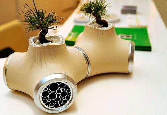 Bonsai Speaker: Concept speakers by JVC #JVC #Speakers #Garden