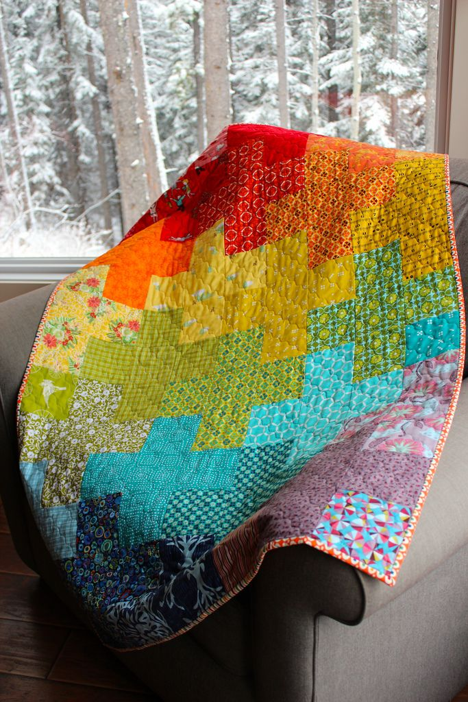 1000 Images About Rainbow Quilts On Pinterest Quilt