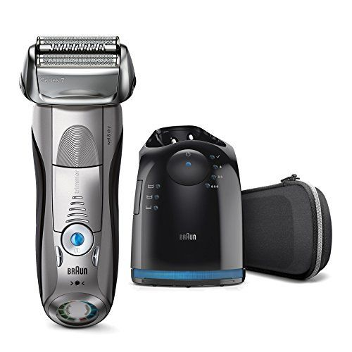 Braun Series7 7898cc Rasoir Électrique pour Homme, Technologie Wet&Dry, sans Fil, avec Station Clean&Charge et Pochette de Voyage–…