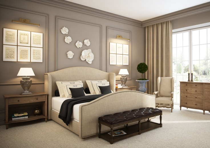 Nice master bedroom suite: Color Schemes, Bedrooms Design, Wall Color, Master Bedrooms, Beds Frames, Eclectic Bedrooms, Bedrooms Decor, Bedrooms Ideas, Upholstered Beds