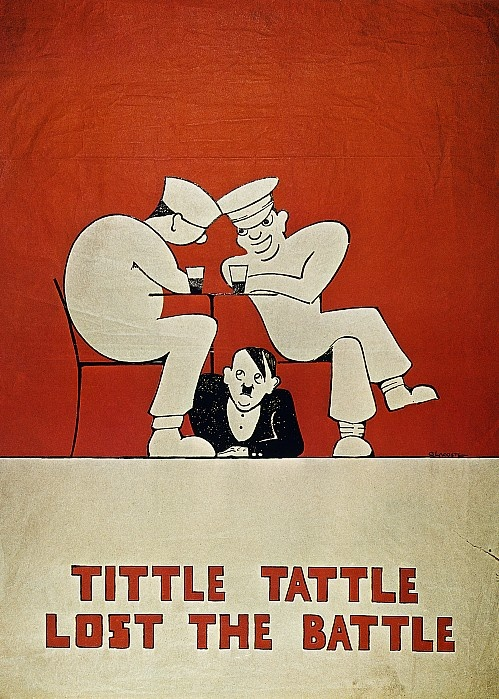 Cartel británico contra los peligros del espionaje.