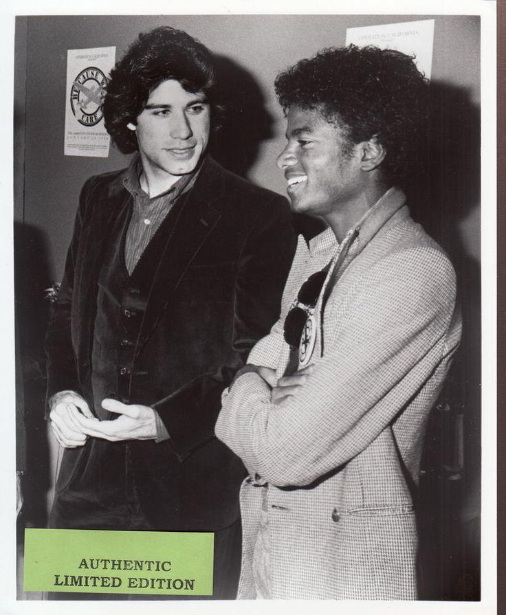michael jackson press relase with photo michael & john travolta
