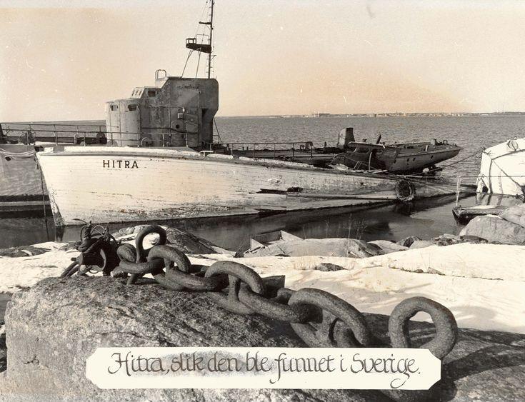 Motiv: Tidligere ubåtjager HITRA på Tjurkö, Karlskrona. Babord side.
