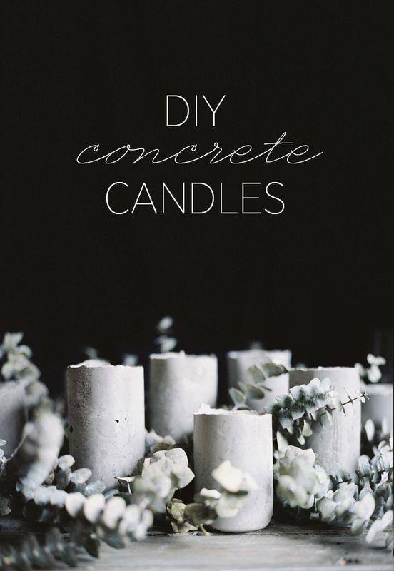 DIY+Concrete+Candles