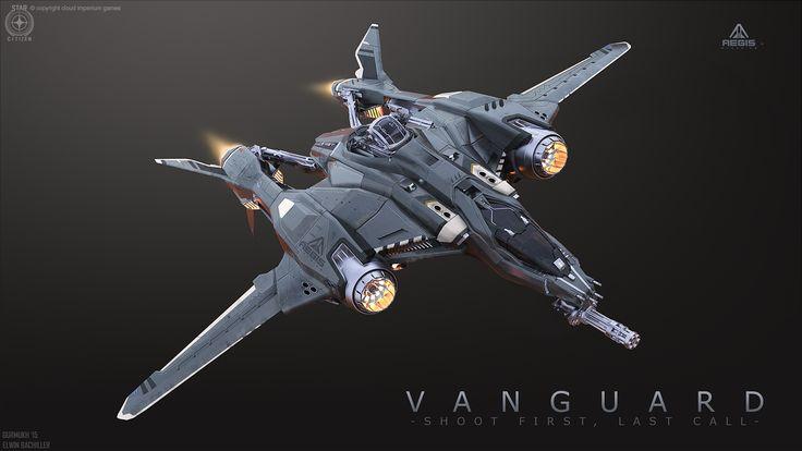 concept ships: Vanguard from Star Citizen