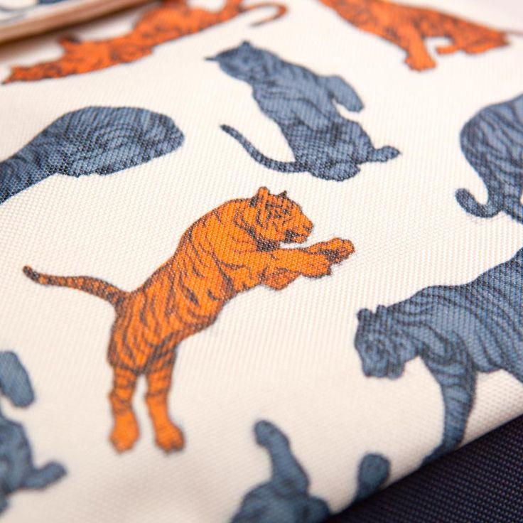 TIGER Kids Backpack detail by Designvonal // pattern design by Csaba Hutvágner