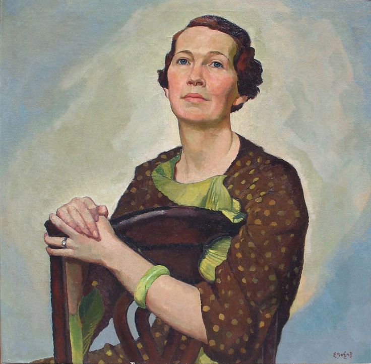 Art Contrarian - Marie Hinde Huestis 1930 by Canadian artist Edwin Holgate 1892 - 1977
