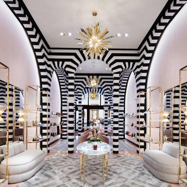 Inside Aquazzuras Decadent New Madison Avenue Shop Commercial InteriorsCommercial DesignStore