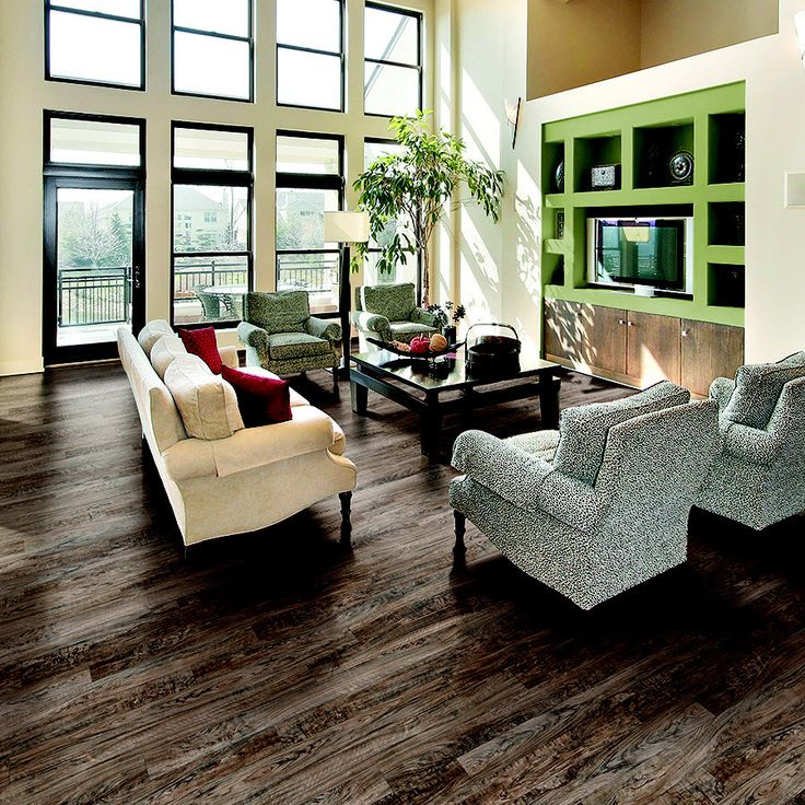 Shop Pergo Max 5.23-in W x 3.93-ft L Midtown Olive Smooth Laminate Wood Planks at Lowes.com