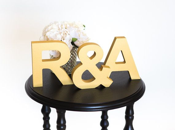 Initial Signs Letters Freestanding Wedding by ZCreateDesign