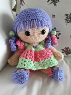http://www.ravelry.com/patterns/library/weebee Designed by Laura Tegg . CAL for new year Great pattern for a big head baby doll includes doll, clothes and wig patterns