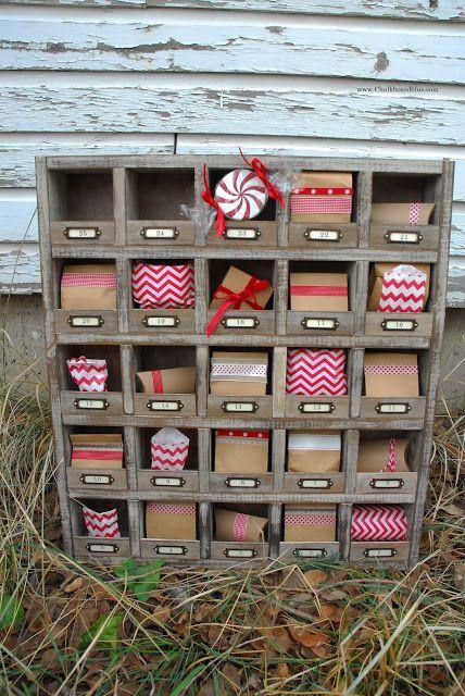 Pottery Barn Inspired Cubby Advent Calendar