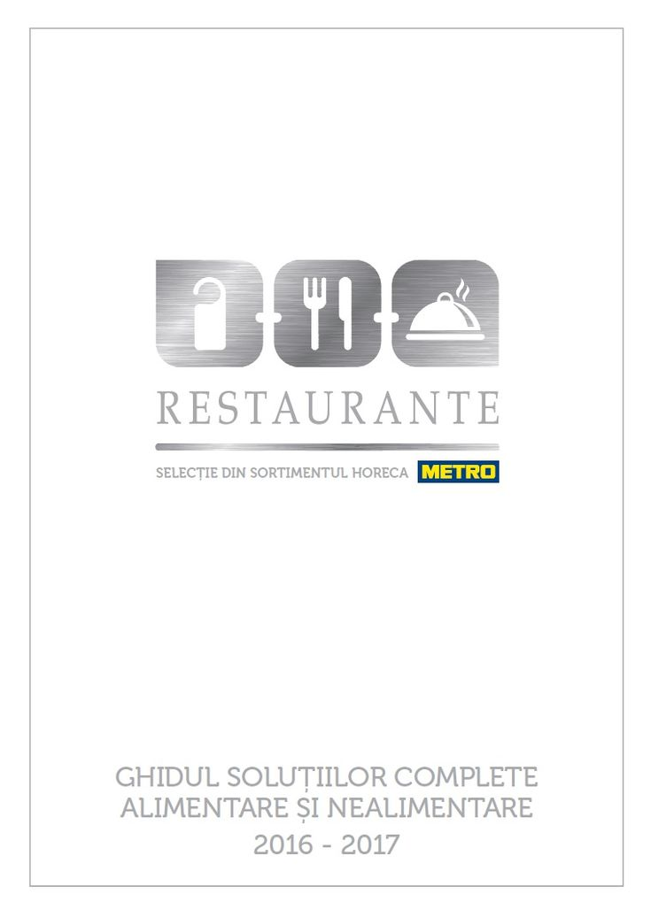 Catalog Metro Solutii pentru Restaurante 2016-2017!Oferte si recomandari: ciocan pt gragezit carnea 32 cm; sfoara alimentara; termometru pentru friptura