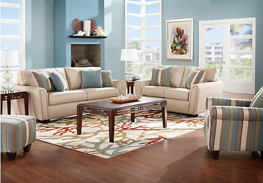 Shop for a claire park 7 pc living room at rooms to go for Find living room furniture