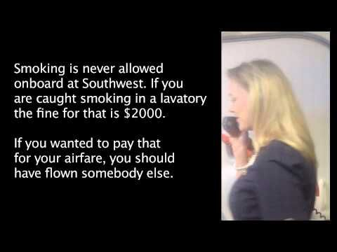 """Hilarious Southwest Airline Safety Presentation ... this oughta leave ya on the floor laughing your ass off! If only every """"welcome to the flight"""" speech was like this #funny!"""