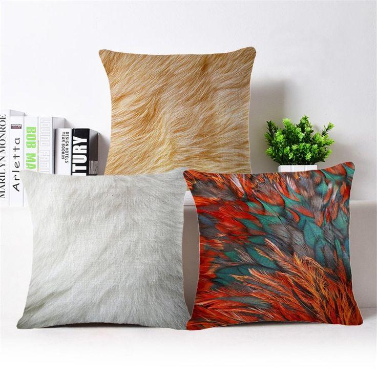 Nordic Classical Creative Fur Hair Colorful Cushion Cover Sofa Cushion Cover  45X45cm Home Car Sofa Decorative