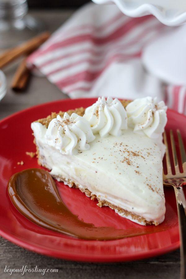 No-Bake Eggnog Cream Pie - Beyond Frosting