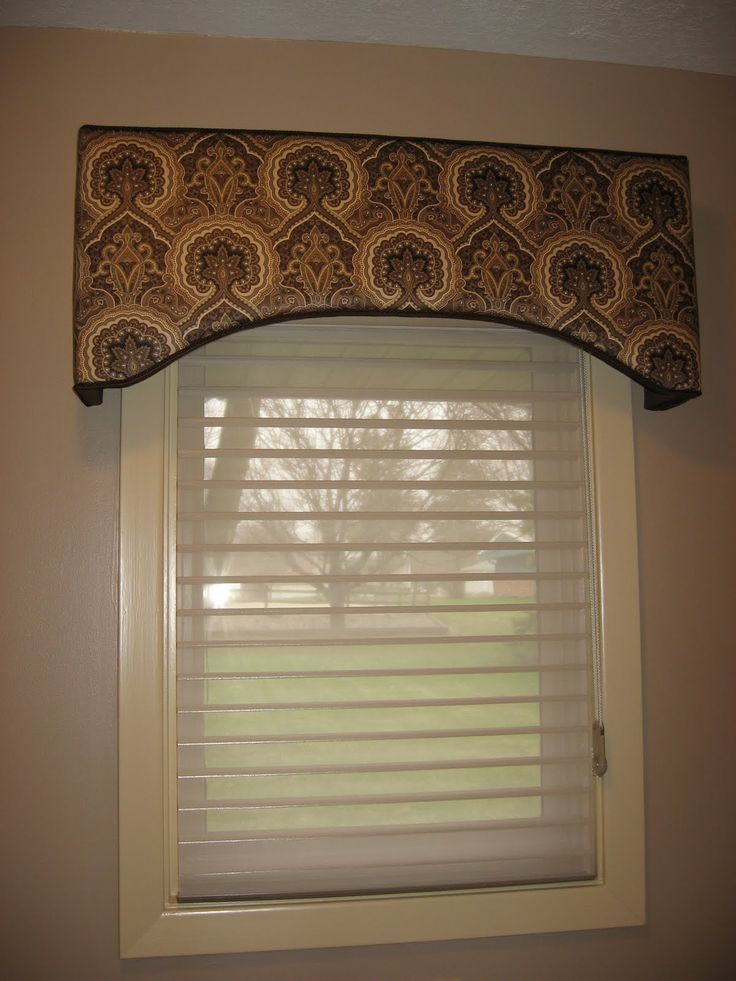 The Art Gallery I recently pleted this window treatment for a client who re decorated her guest bathroom This eyebrow shaped cornice is made with Kasmi