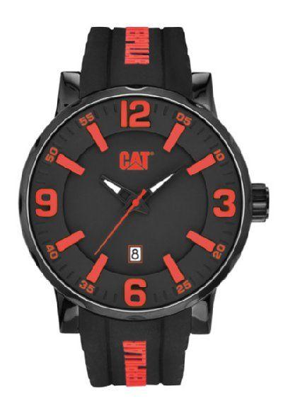 La línea Bold 46 MM NJ 161 28 138 en #rojo con #negro de #CAT #Caterpillar #HombreReal #Watch #Clock #red #black.