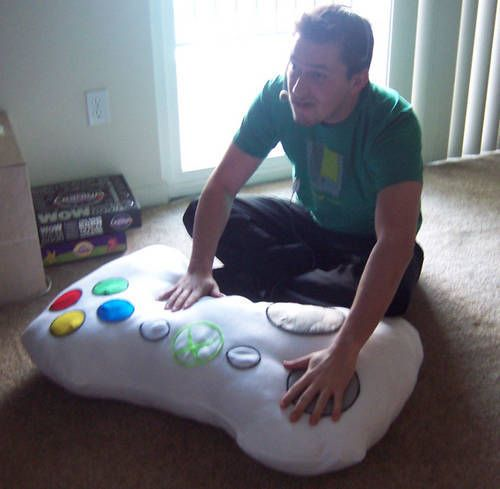 Ever wanted to cuddle up with your Xbox? Well, this is the perfect pillow!