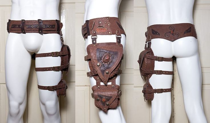 Belt and leg pouches. I can TOTALLY see Nhamei wearing this