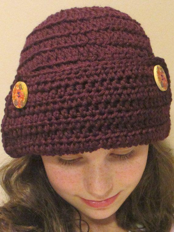 Crochet Pattern Flapper Hat Crochet Patterns Pinterest ...