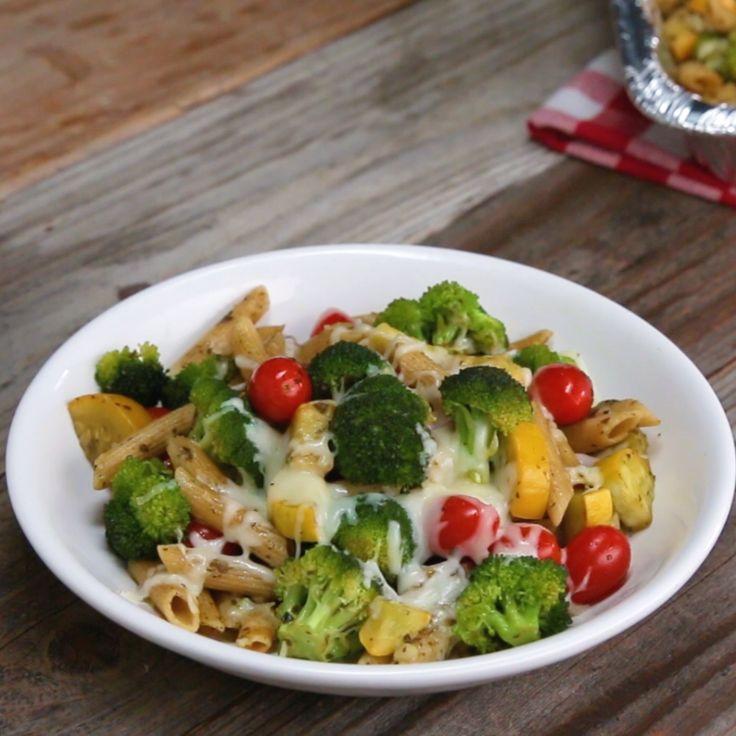 Pesto Pasta Freezer Prep // #pasta #mealprep #pesto #dinner #food #recipe #goodful