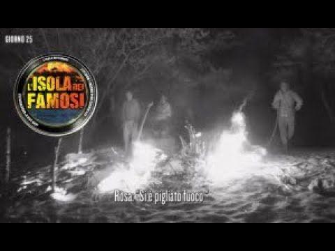 Incendio all'Isola dei Famosi:nella notte brucia la capanna sull'isola d...