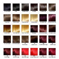un nuancier pour les cheveux - Coloration Redken Nuancier