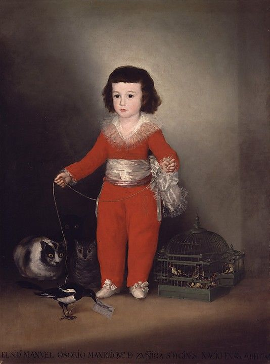 Goya (Francisco de Goya y Lucientes)  (Spanish, Fuendetodos 1746–1828 Bordeaux). Manuel Osorio Manrique de Zuñiga (1784–1792). The Metropolitan Museum of Art, New York. The Jules Bache Collection, 1949 (49.7.41) #cats