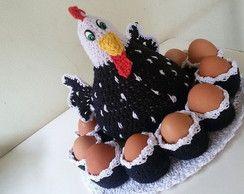 Galinha Angola porta ovos