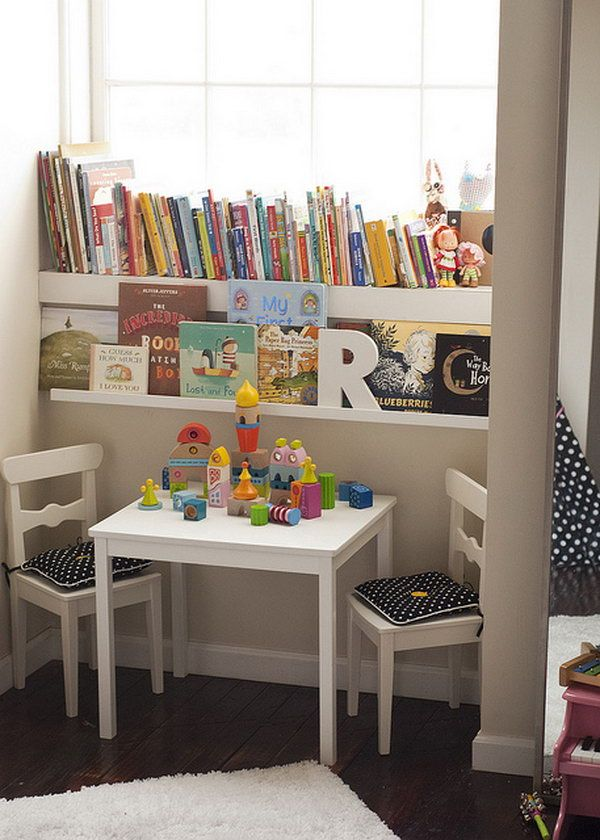 book nook by the window, Creative Book Storage Ideas for Kids, http://hative.com/creative-book-storage-ideas-for-kids/,