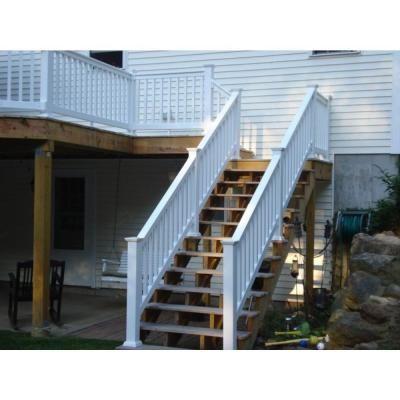 Attractive W White Vinyl Stair Railing Kit
