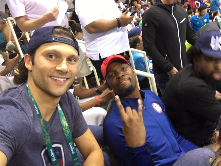 U.S. Olympic Team Retweeted  Cody Miller ‏@swimiller  Aug 9 WE READY FOR FINALS!! @KDTrey5 🇺🇸🇺🇸🇺🇸#TeamUSA #Rio2016  Kevin Durant and Cody Miller
