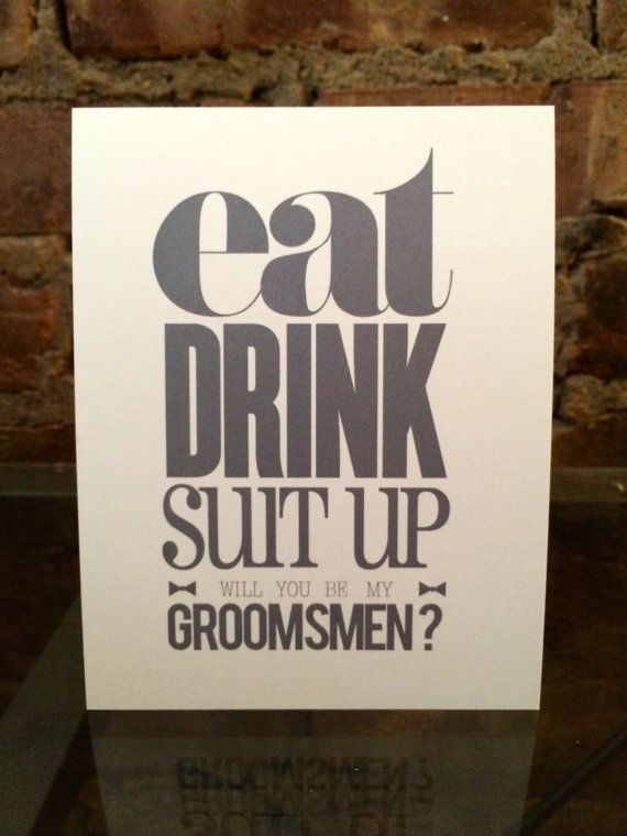 groomsmen invite ideas