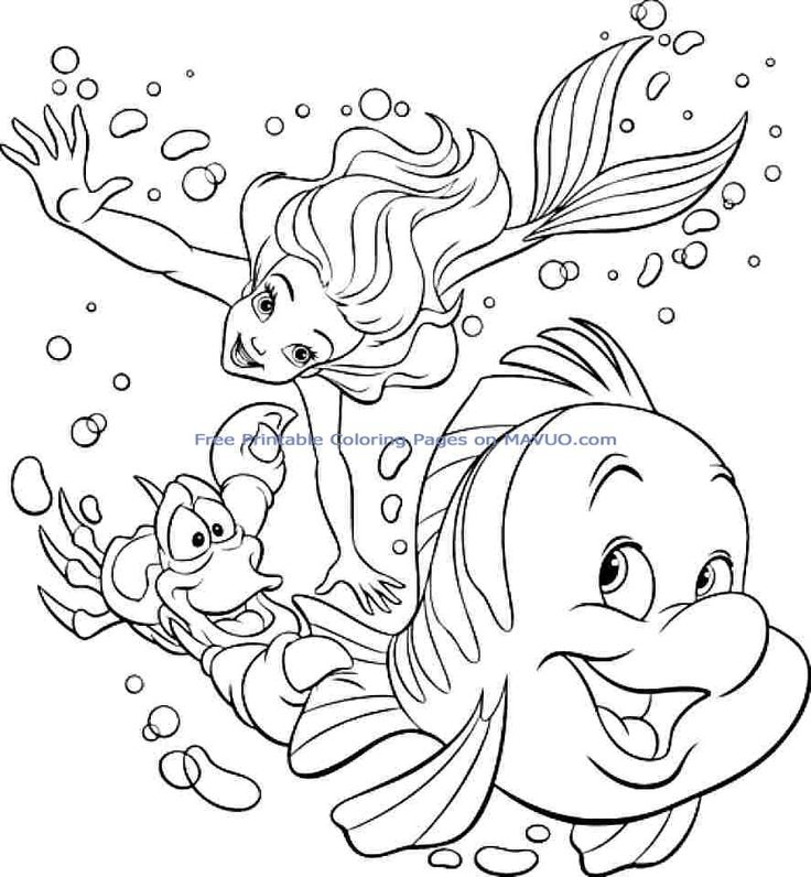 If You Desire To Print The Colouring Pages Disney Princess Ariel Free Printable For Boys