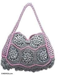 Crochet Handbag- Made with pull pop tabs