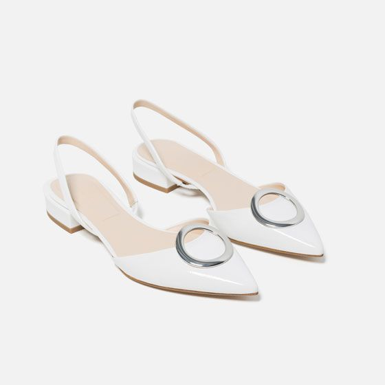 FLAT SHOES WITH DETAIL from Zara