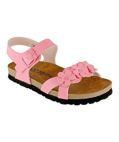 Another great find on #zulily! Pink Daisy Sunny Sandal by RK Collection #zulilyfinds