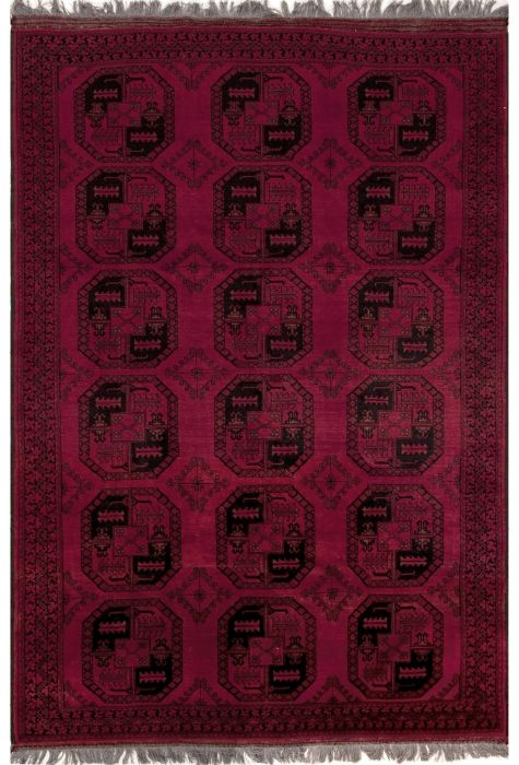 Turkman Afghan rug. Wool. Hand Knotted. 206 x 290 http://www.rugman.com/afghan-turkman-design-oriental-area-rug-large-size-wool-red-rectangle-251-12523