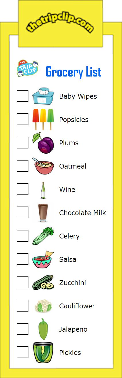 New Grocery List Clipart | ideas for kids | Printable ...