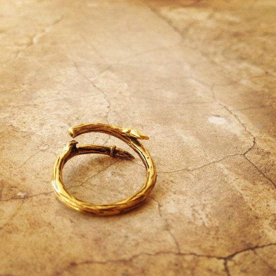 Hey, I found this really awesome Etsy listing at https://www.etsy.com/listing/215540847/adjustable-twig-ring-brass-ring-nature