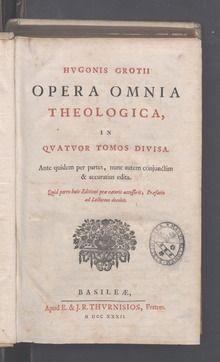 Hugo Grotius - Annotationes ad Vetus Testamentum (1732)