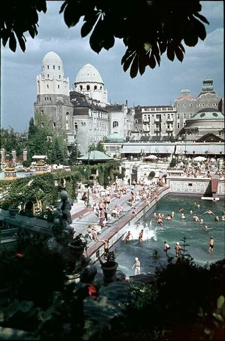 Gellért Spa & Hotel is one of the favorite hotels of the rich and famous. Budapest, Hungary.