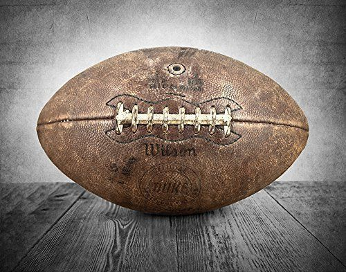 Vintage Football on Vintage Background Fine Art Photography Print, Sports Decor, Football Nursery decor, Vintage Sports Nursery Art, Football artwork, Football Prints, Kids Room Wall Art.