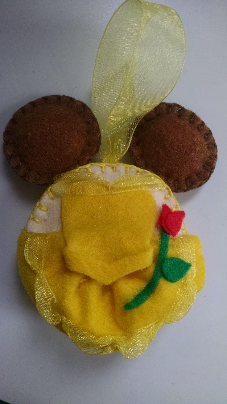Belle ornament disney - Belle Disney Felt Ornament
